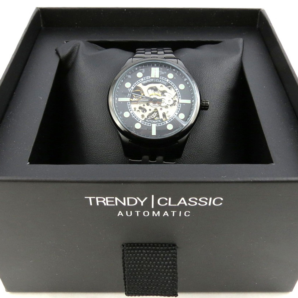 Montre automatique \'Trendy\' noir  - [N2356]