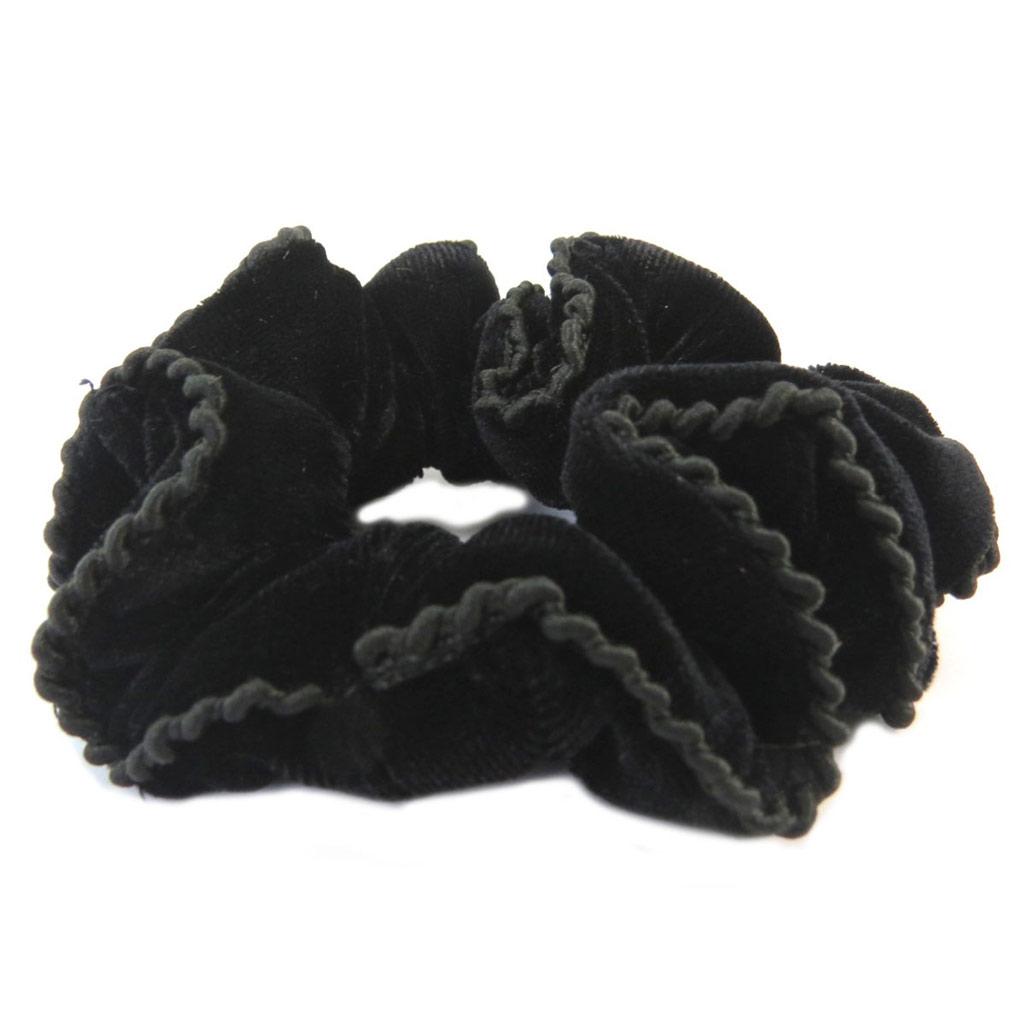 Chouchou créateur \'Sissi\' noir (velours) - largeur 3 cm - [P6256]