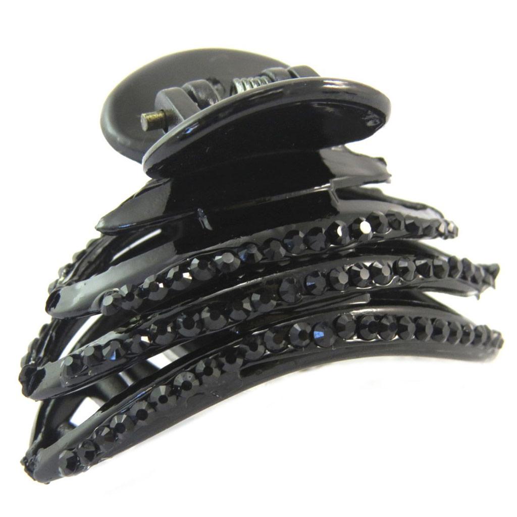 Pince crabe créateur \'Sissi\' noir - 45x35 mm - [P6305]