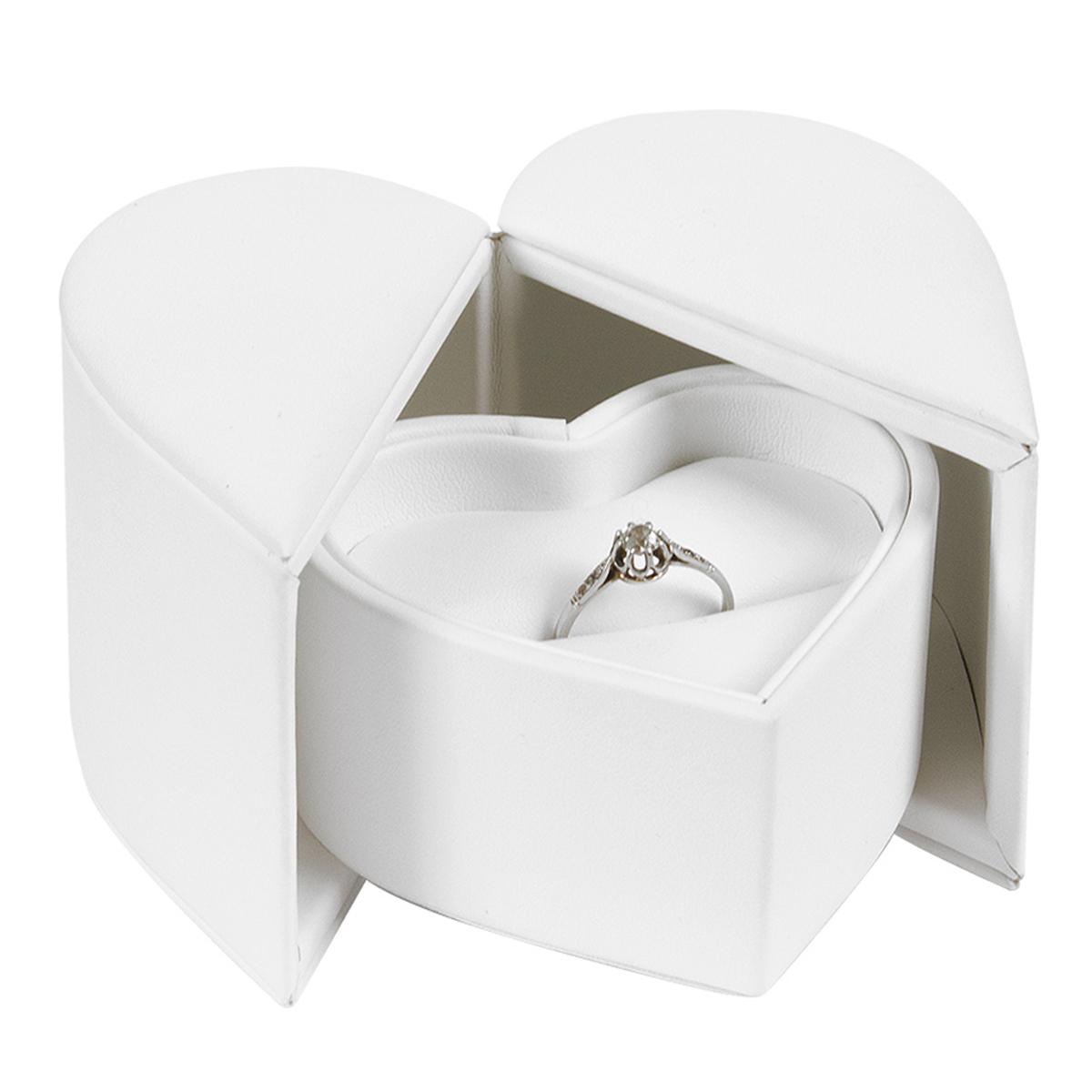 Ecrin Bague \'Veux-tu m\'épouser ?\' blanc - 85x85x60 cm - [P6542]