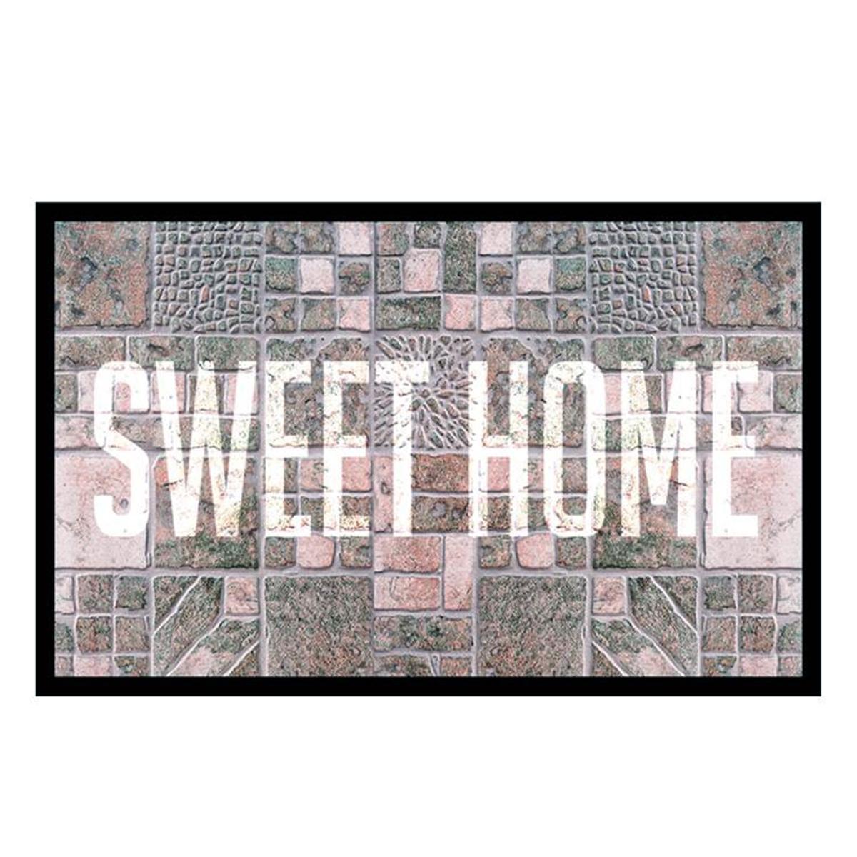 Tapis Intérieur \'Sweet Home\' gris - 60x40 cm - [P6545]