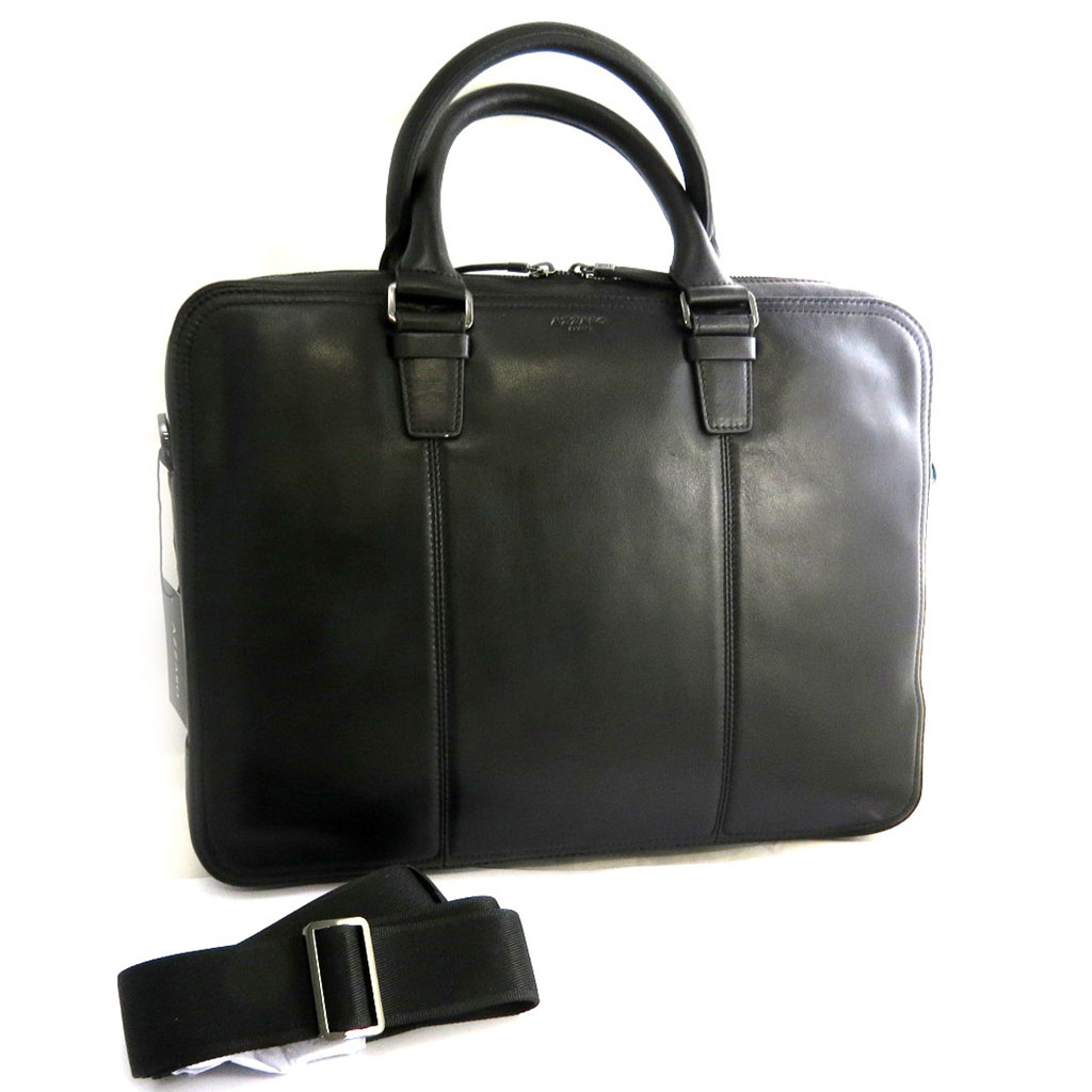 Sac business, porte-ordinateur cuir \'Azzaro\' noir (special ordinateur 15\') - [N2644]