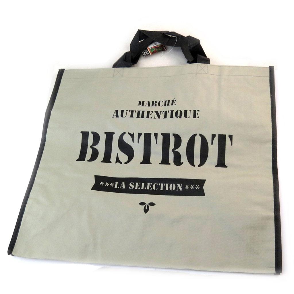 Sac Shopping \'Bistrot\' gris - 45x40x20 cm - [N2701]