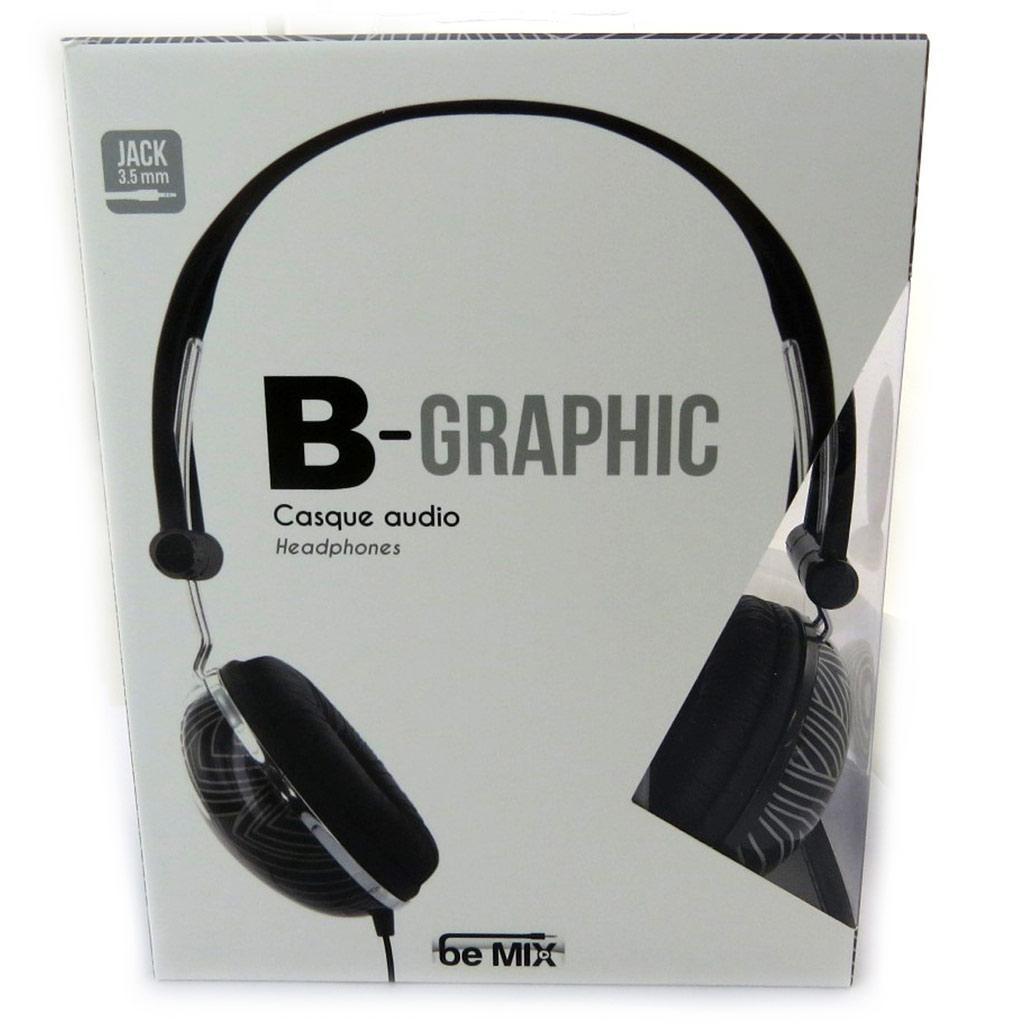 Casque audio \'B-Graphic\' noir gris - [N2720]