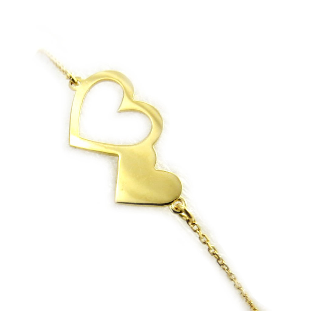 Bracelet plaqué or \'Love\' doré - [N2829]