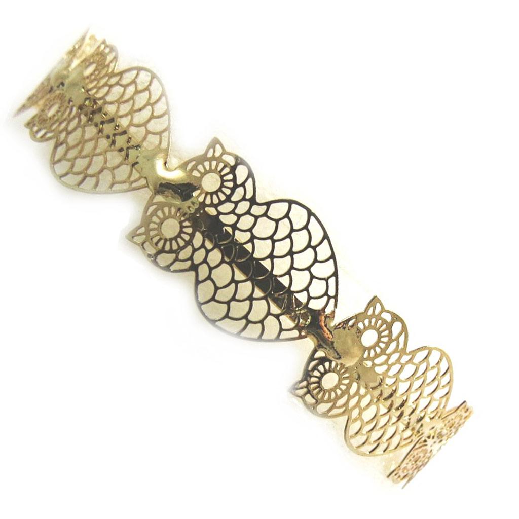 Bracelet \'Carmen\' doré (chouette)  - [N3057]