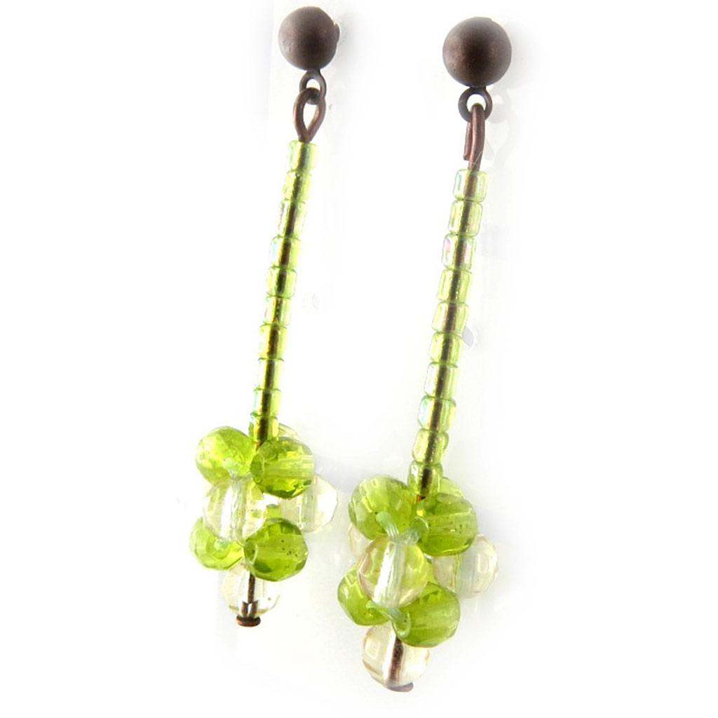 Boucles Créateur \'Prunus Kianda\' vert/ Vert  - [D1112]