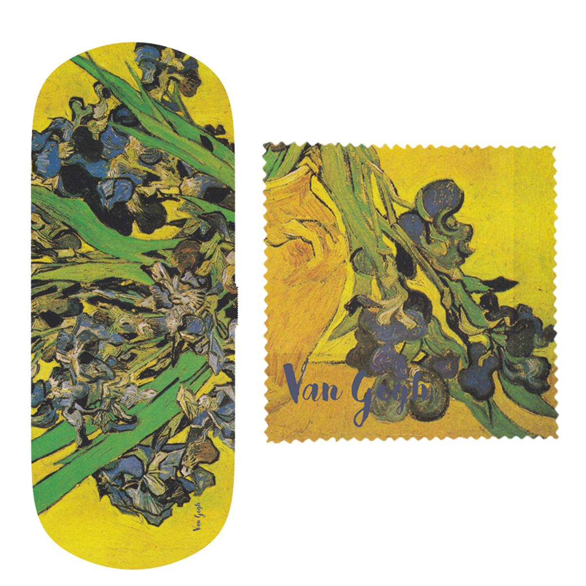 Etui à lunettes \'Vincent Van Gogh\' (Les Iris sur fond jaune) - 16x6x36 cm - [Q9273]