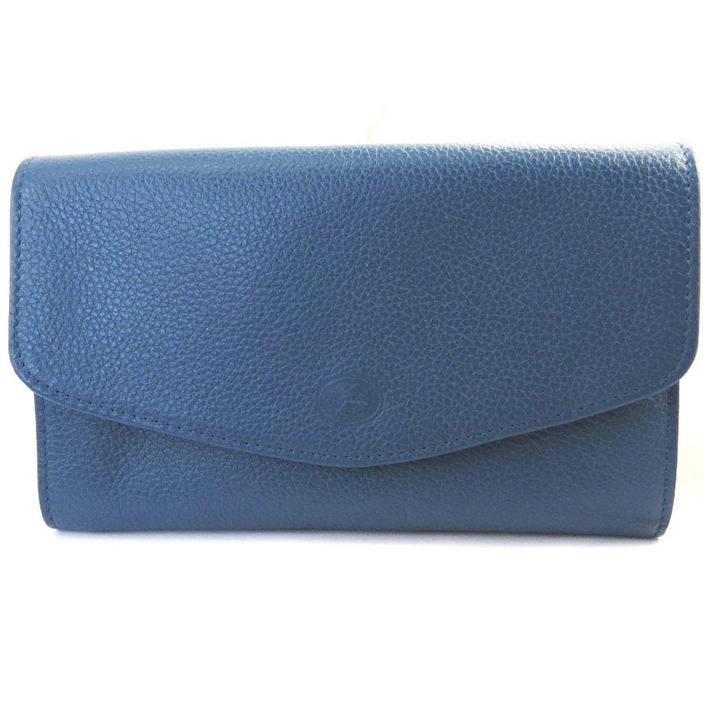 Compagnon Cuir \'Frandi\' bleu grainé - [M6404]