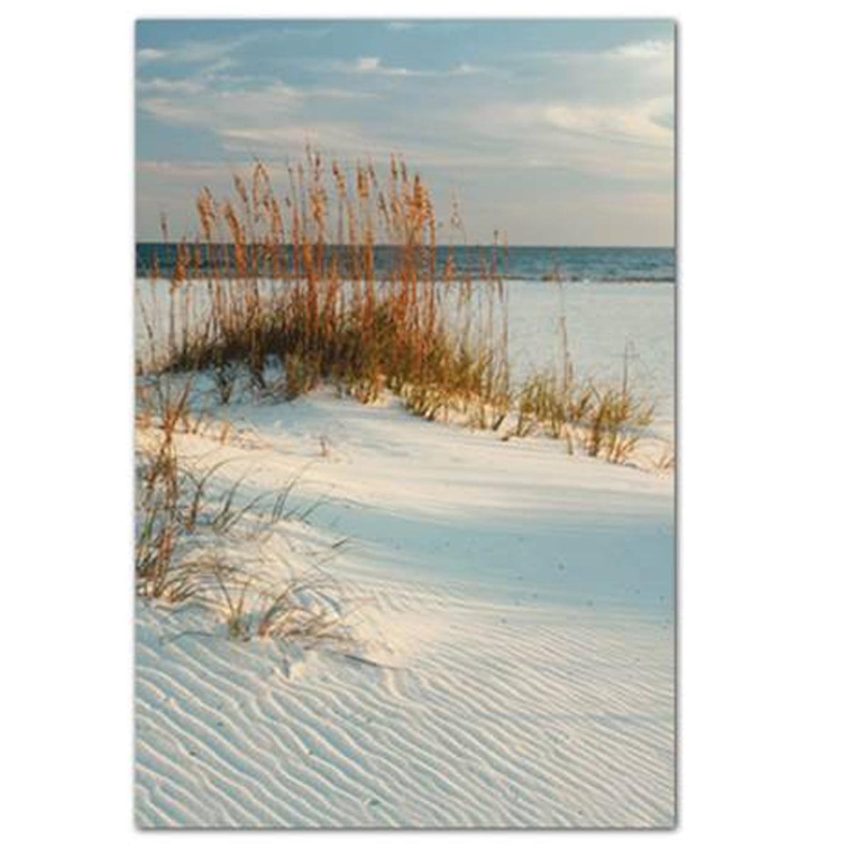 Toile créateur \'Bords de Mer\' bleu gris (sable chaud) - 60x40 cm - [Q0267]