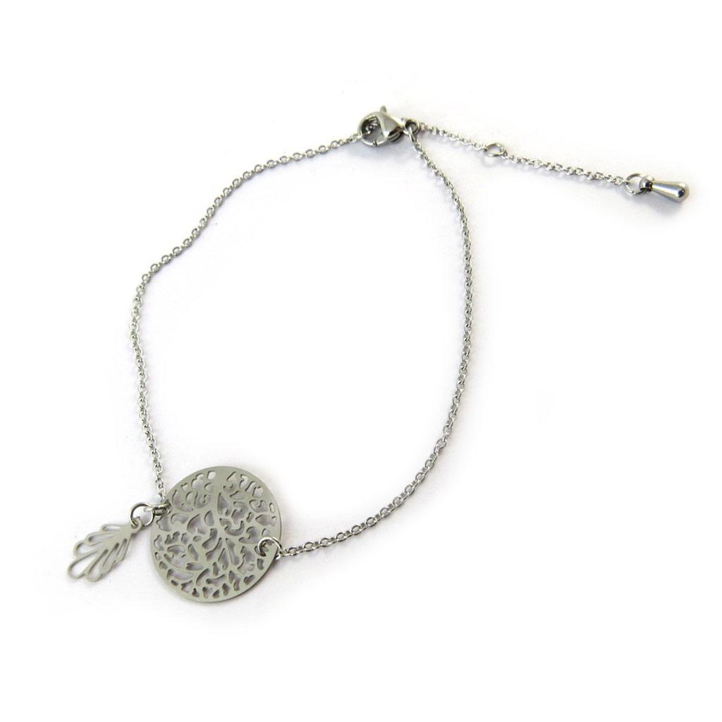 Bracelet \'Carmen\' argenté - [N8097]