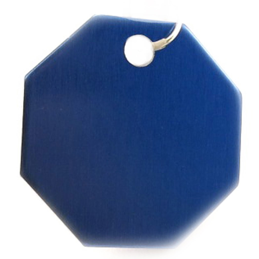 Médaille Animaux \'Octogone\' Bleu - [C3723]