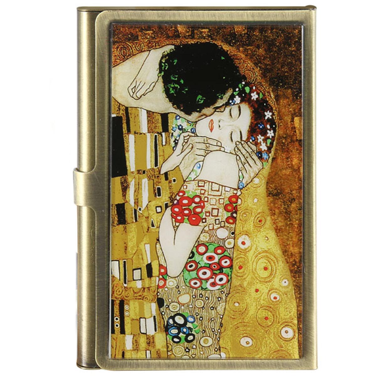 Porte-cartes \'Gustav Klimt\' (Le Baiser) - 90x55 mm - [Q6434]
