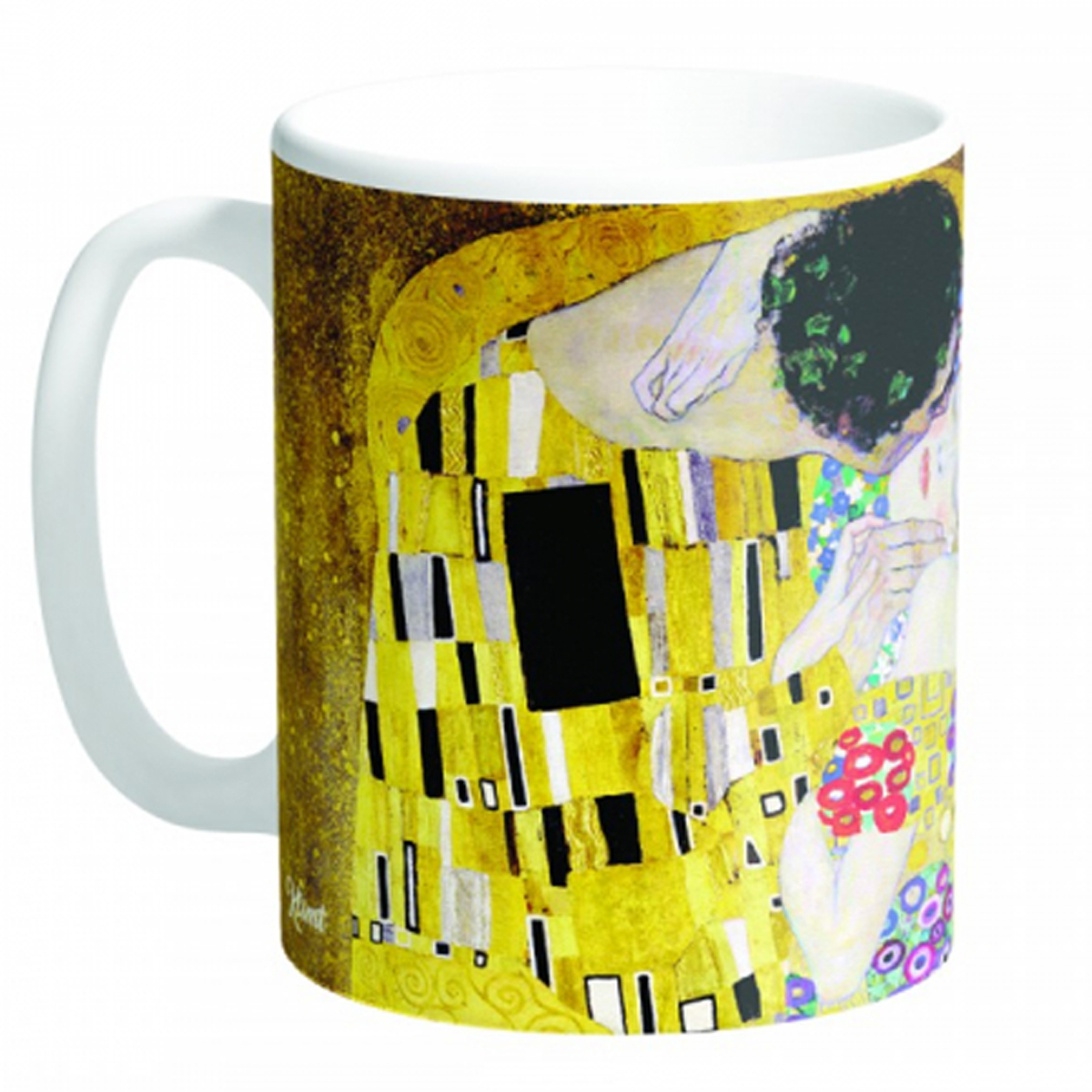 Mug céramique \'Gustav Klimt\' (le Baiser) - 95x8 cm - [R1995]