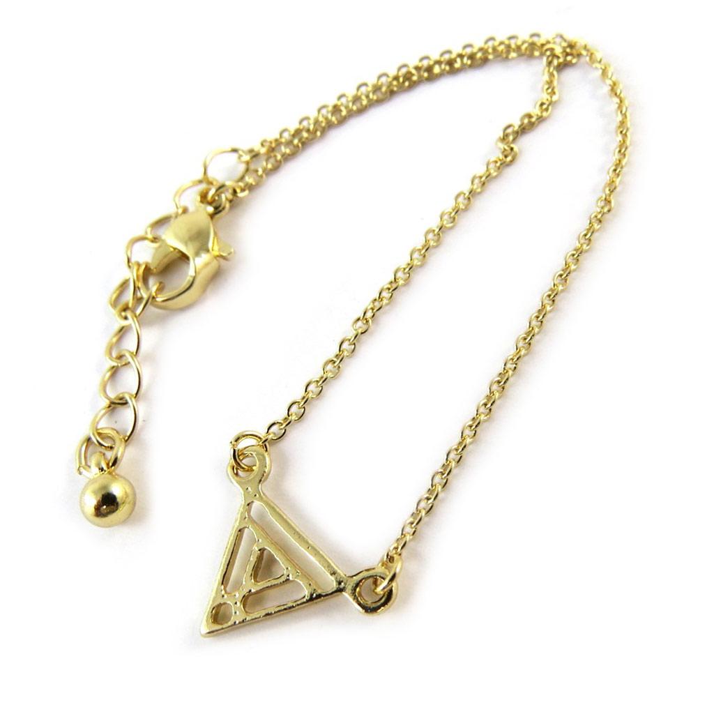 Bracelet \'Triangle\' doré - [N8130]