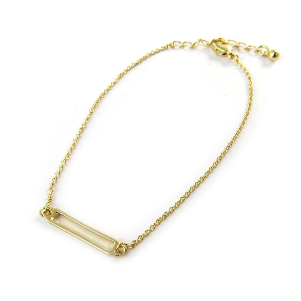 Bracelet \'Rectangle\' doré - [N8132]