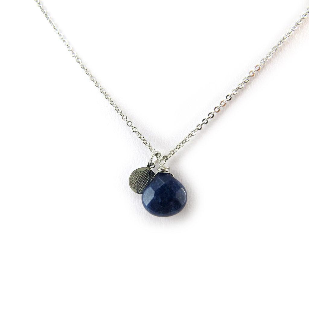 Collier \'Minéralia\' bleu - [N3745]