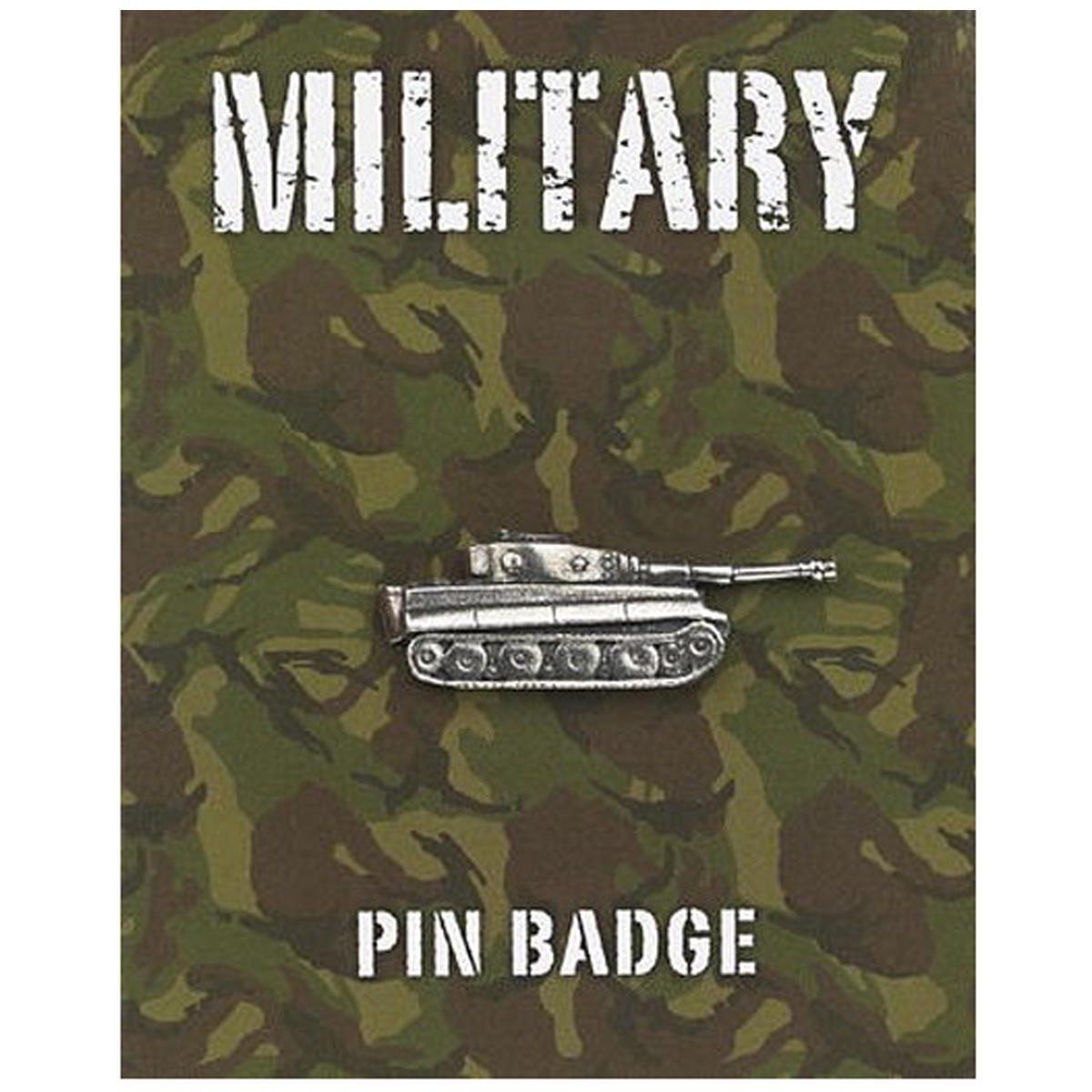 Broche pin\'s \'Military\' argenté (tank panzer) - 35x11 mm - [Q2103]