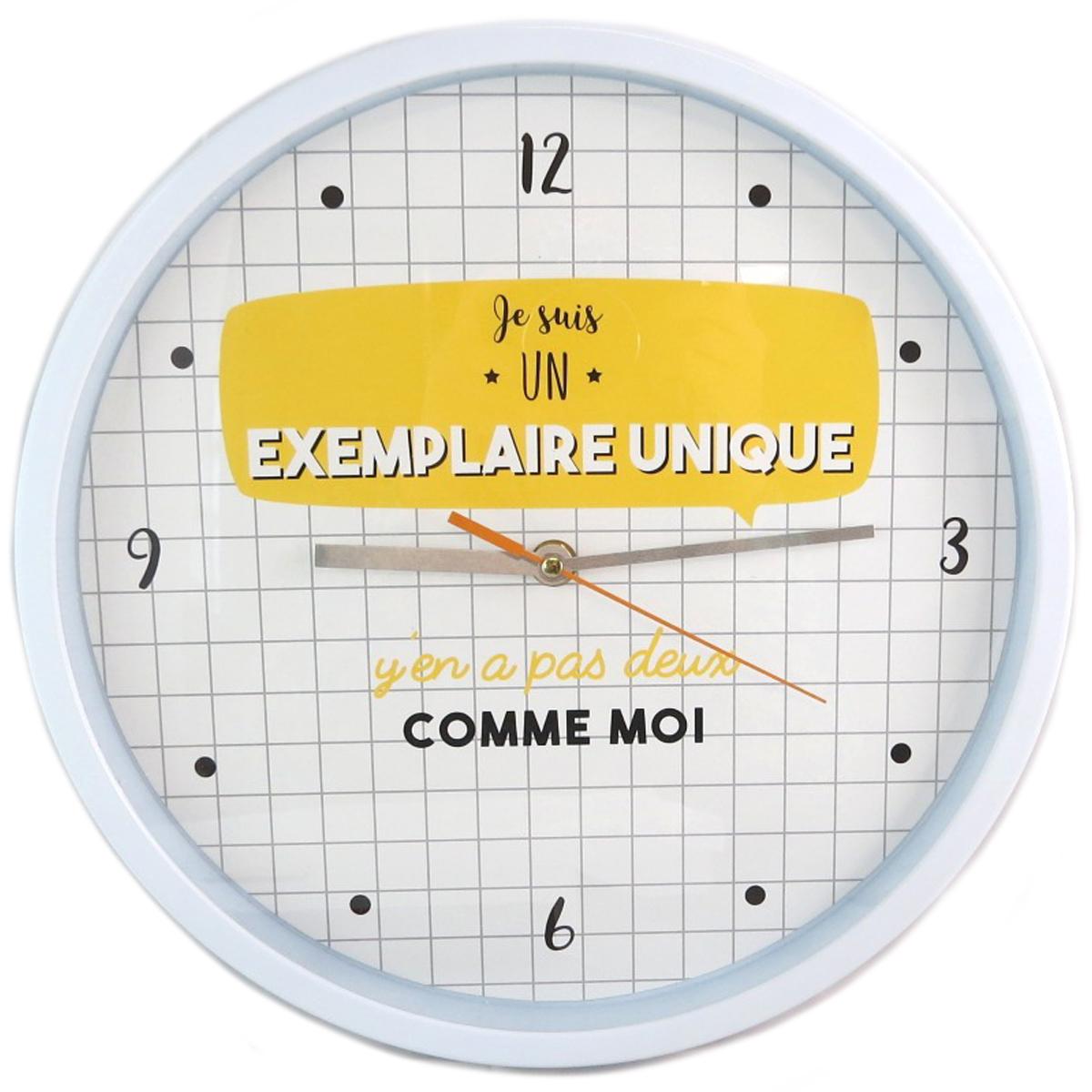 Horloge Murale \'Messages\' (Je suis Exemplaire Unique ) - 30 cm - [Q0370]