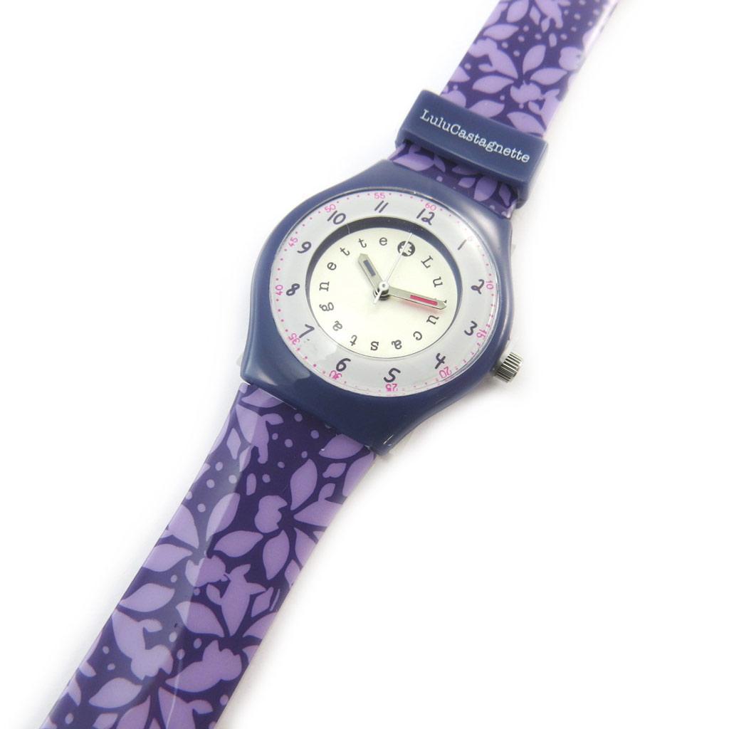 Montre créateur \'Lulu Castagnette\' violet (vahiné) - [N3796]