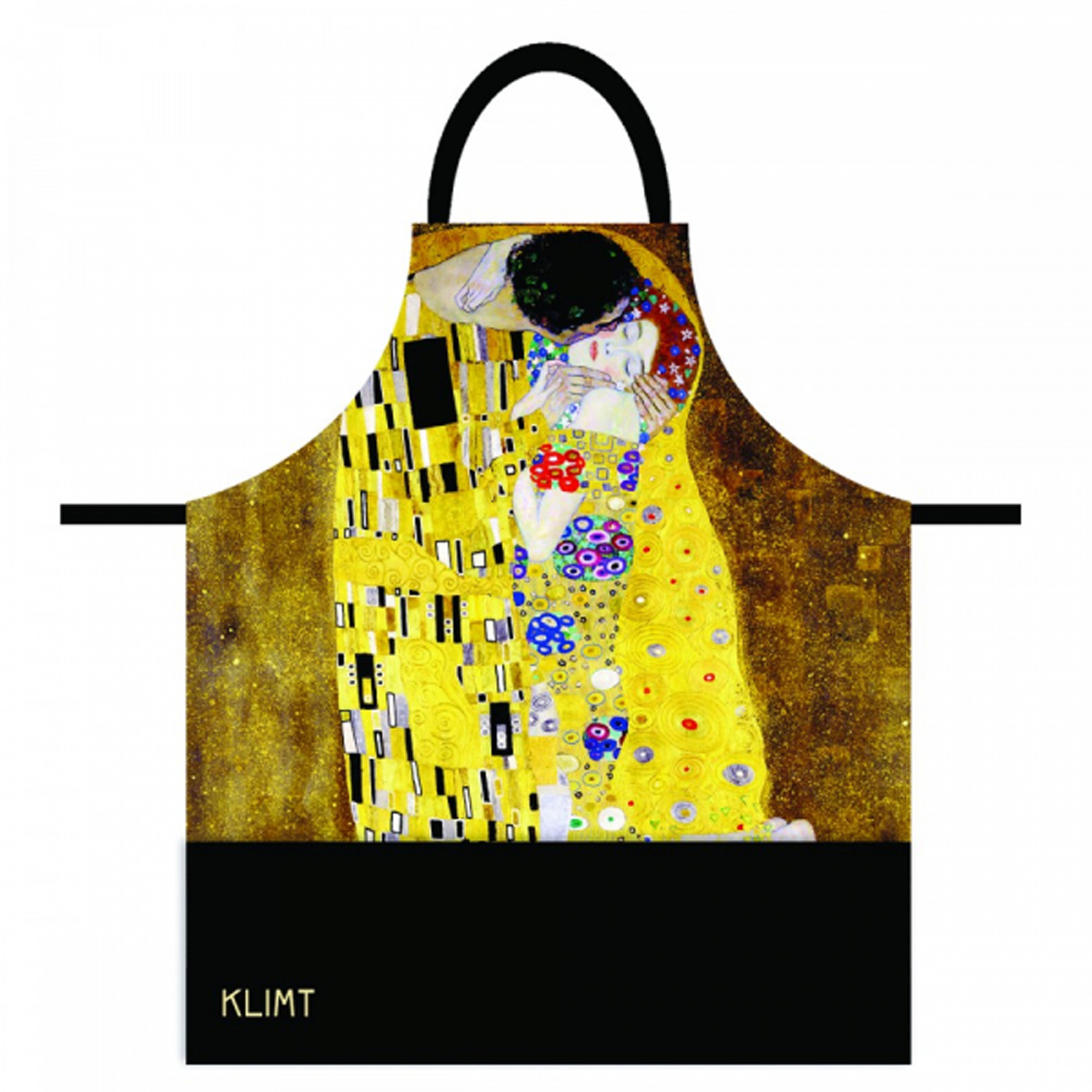 Tablier coton \'Gustav Klimt\' (Le Baiser) - 78x68 cm - [R2002]
