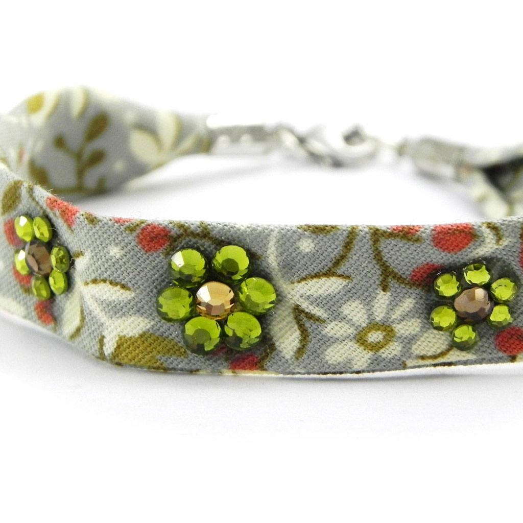 Bracelet \'Liberty\' vert strass - [I2710]