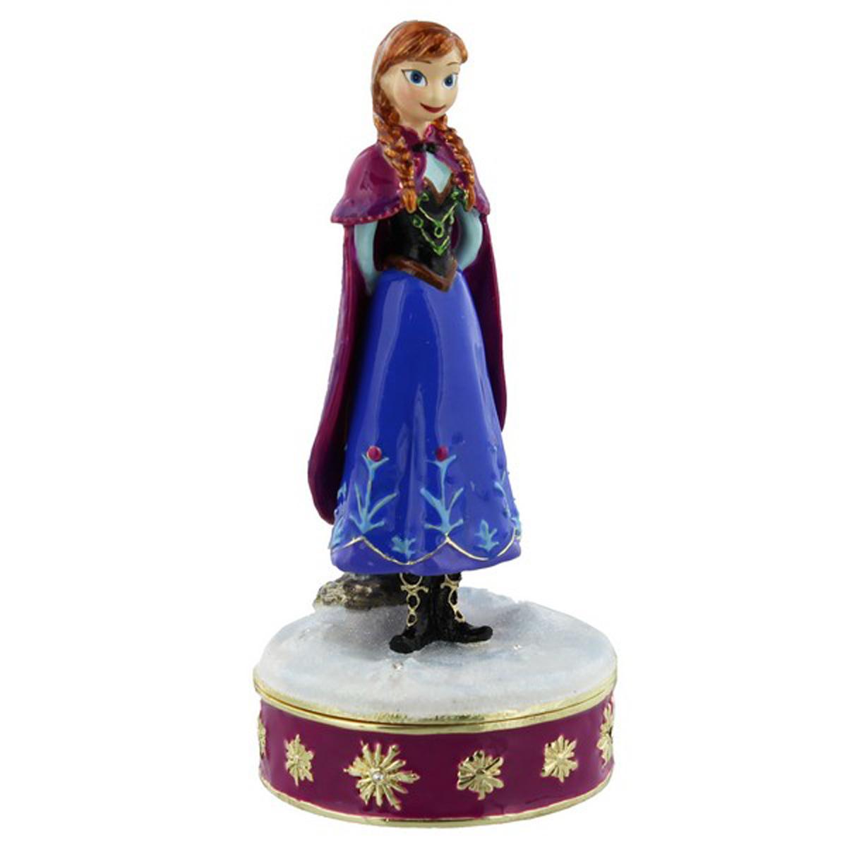 Coffret à Bijoux \'Frozen- Reine des Neiges\' bleu violet (Anna) - 115x5 cm - [Q3444]