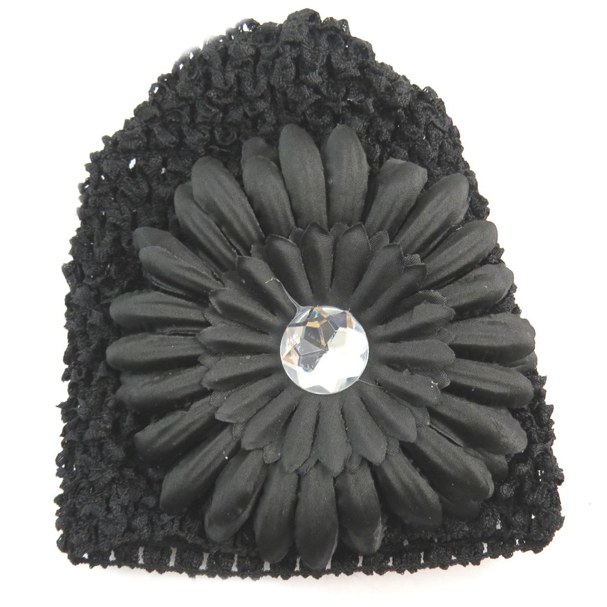 Bonnet enfant \'Petite Lily\' noir - [Q5218]