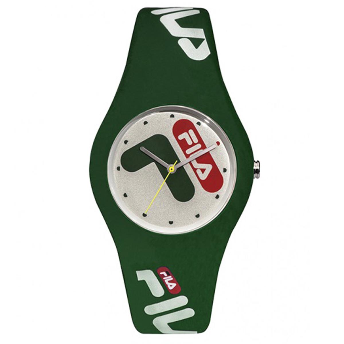Montre silicone étanche \'Fila\' vert  - 40 mm - [Q7988]