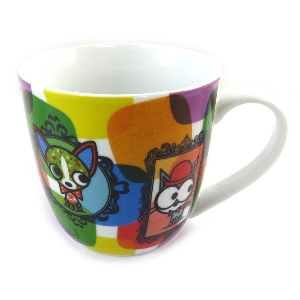 Mug porcelaine \'Chien et Chat Lolita\' multicolore - [N5668]