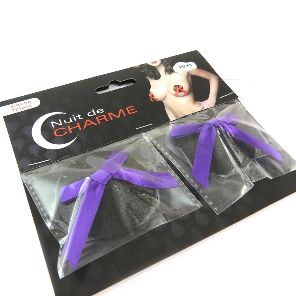 Cache-tétons auto-adhésifs \'Aphrodite\' noir violet - [P0266]
