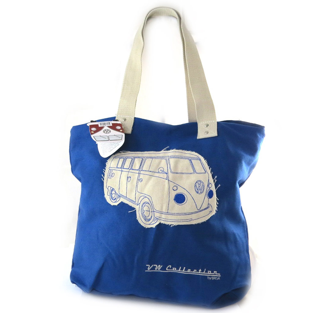 Cabas \'Volkswagen\' bleu - 43x39x85 cm - [N5669]
