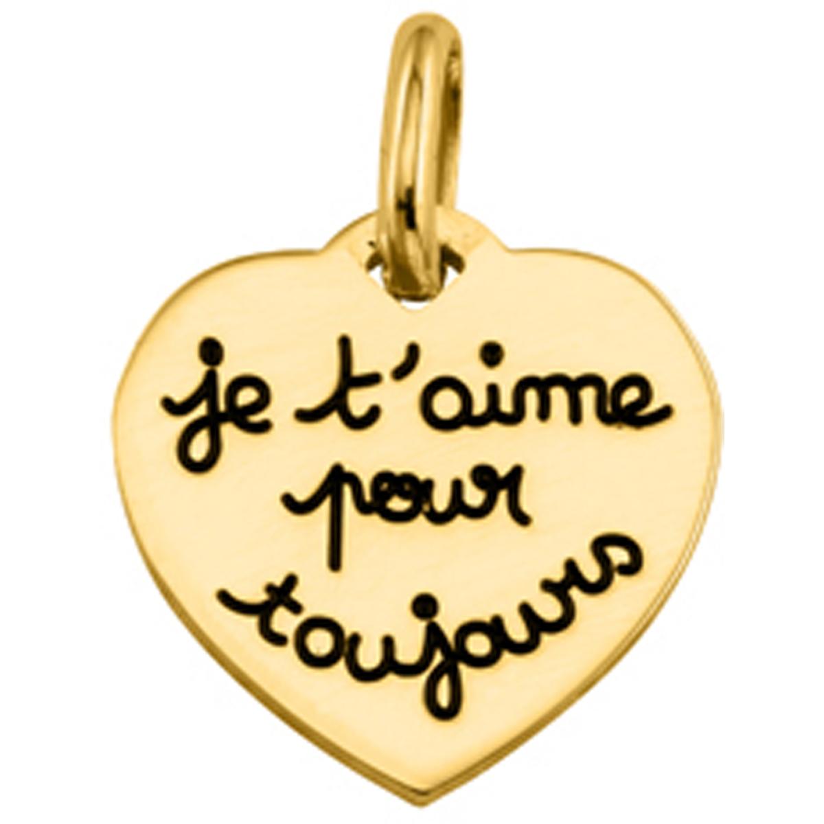 Pendentif plaqué or \'Je t\'aime pour toujours\'  - [L0380]