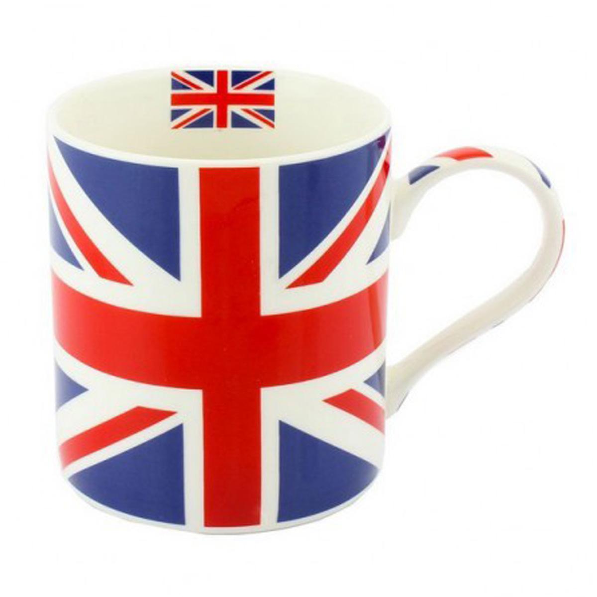 Mug porcelaine \'So British\' Union Jack - 95x8 cm - [Q6476]