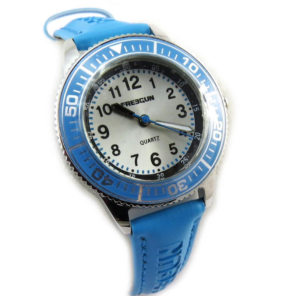Montre créateur \'Freegun\' bleu (Performer) - [N3824]