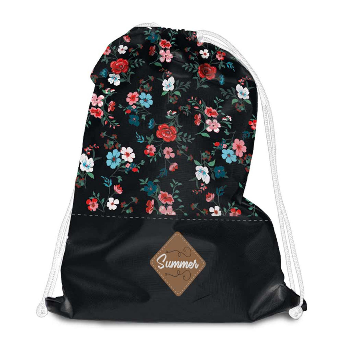 Sac de détente \'Liberty\' noir multicolore (Summer) - 38x34 cm - [Q8008]