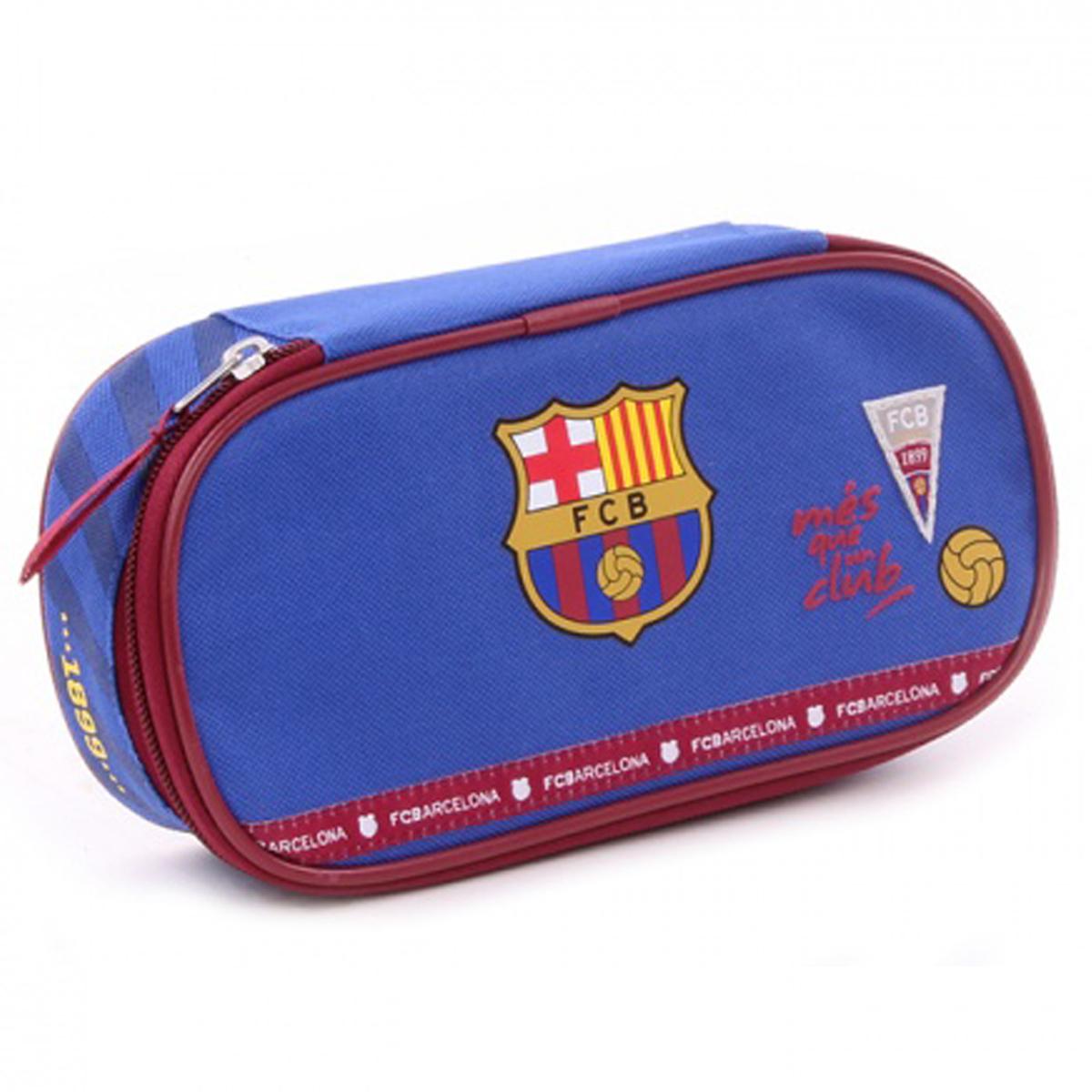 Trousse scolaire \'FC Barcelona\' bleu rouge - 20x9x5 cm - [Q3470]