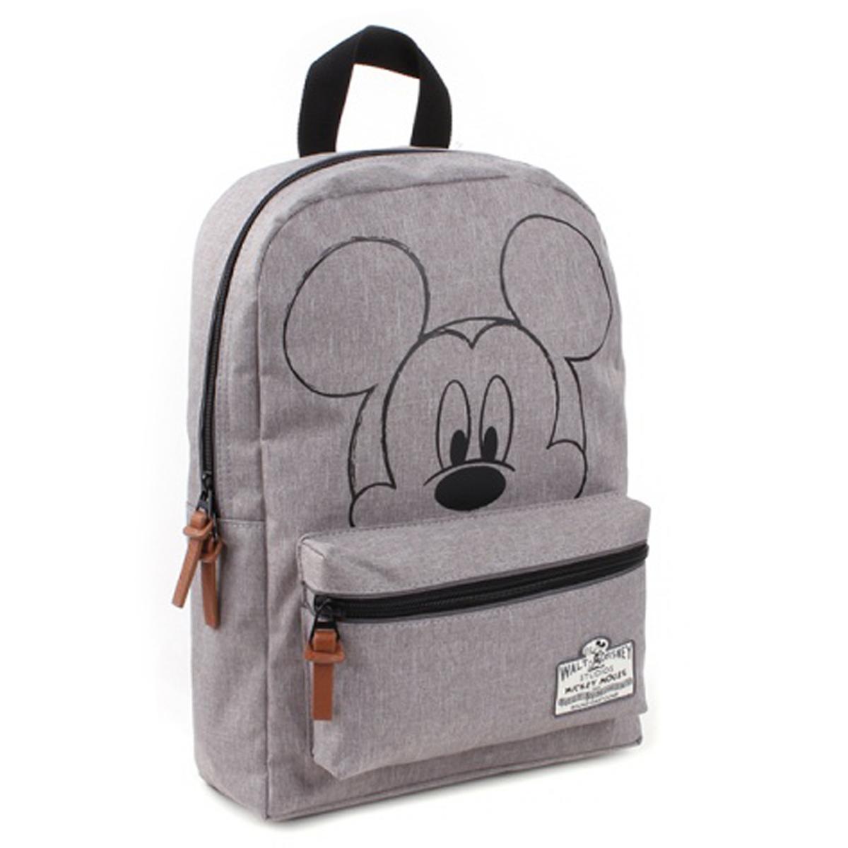 Sac à dos créateur \'Mickey\' gris - 33x23x12 cm (90th Anniversary ) - [Q3477]