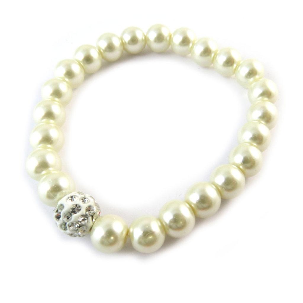 Bracelet \'Sissi\' ivoire - [N8255]
