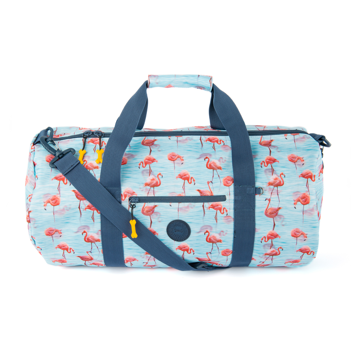 Sac de sport \'Stones and Bones\' turquoise rose (flamant rose) - 51x25x25 cm - [Q0542]