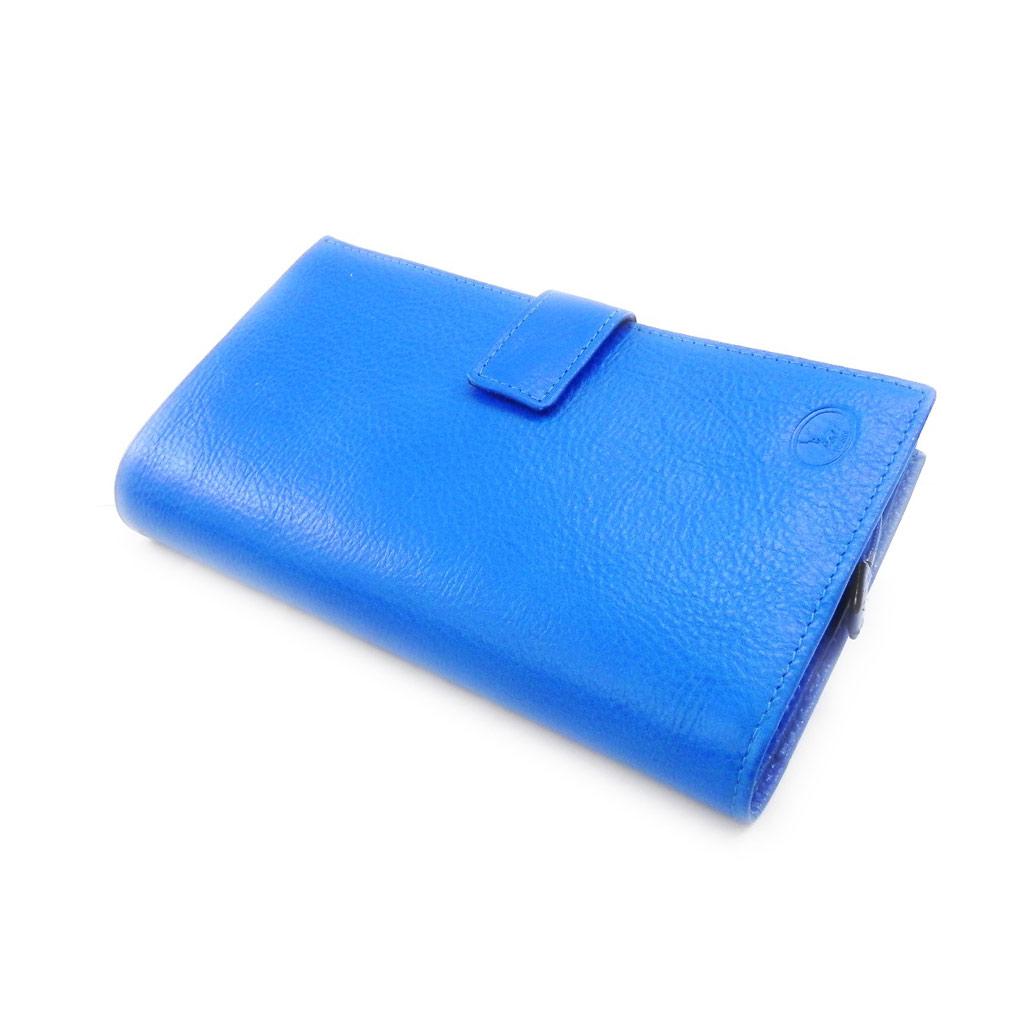 Compagnon Cuir \'Frandi\' bleu roi york écologique - [I8338]