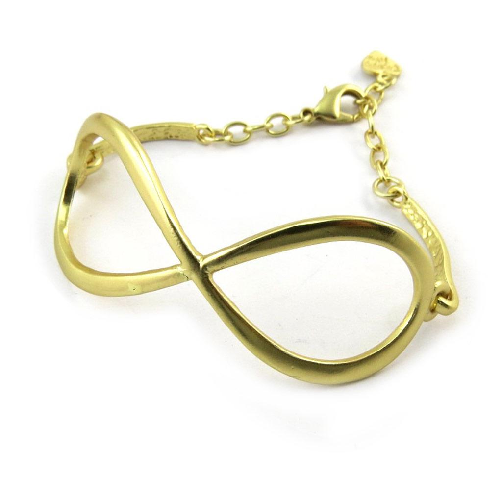 Bracelet Créateur \'Infini\' doré  - [N3893]