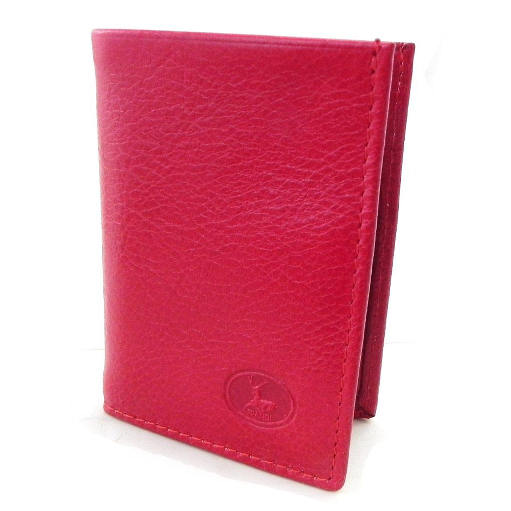 Porte-cartes Cuir \'Frandi\' rouge (york écologique) - [I8347]