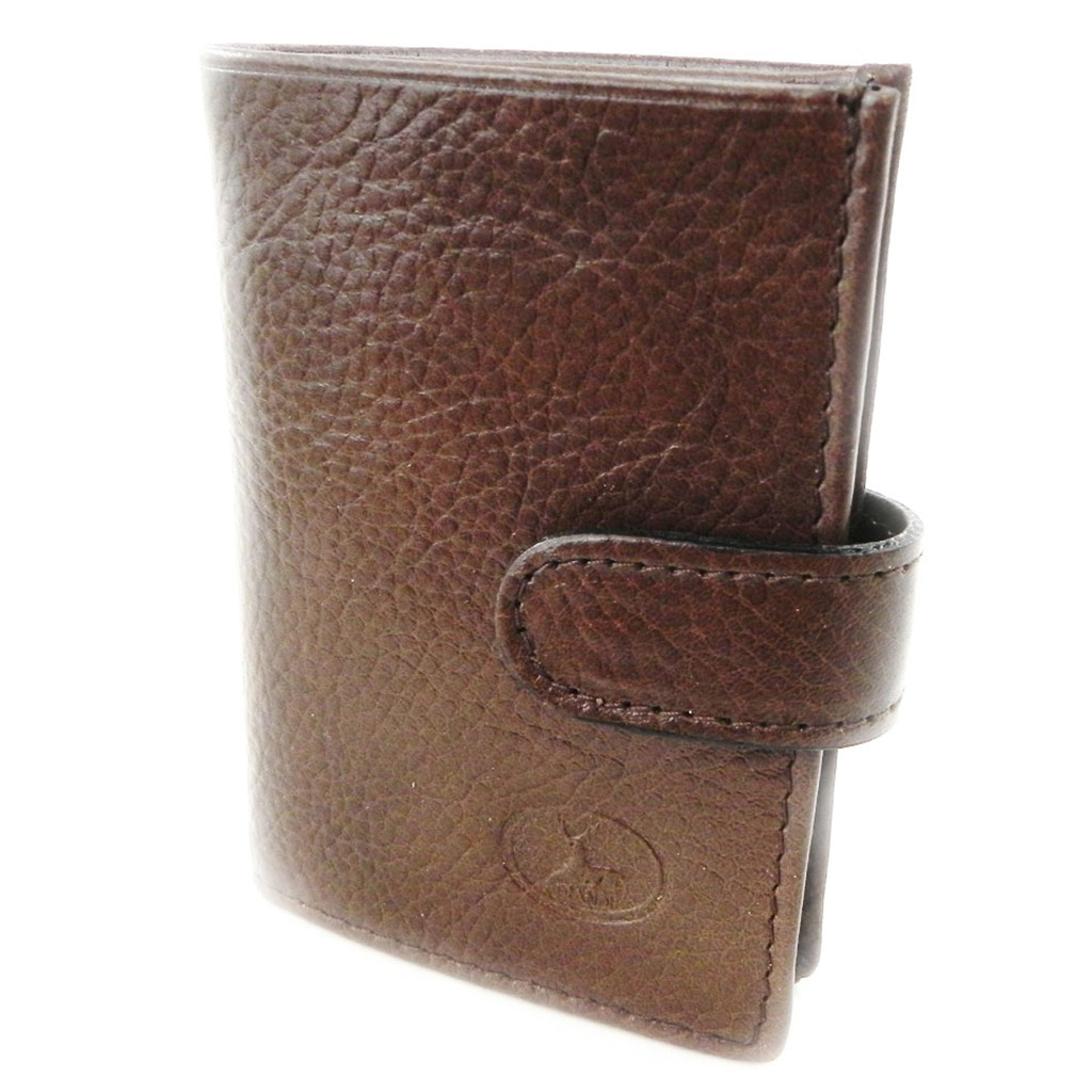 Porte-cartes Cuir \'Frandi\' marron (york écologique) - [I8397]