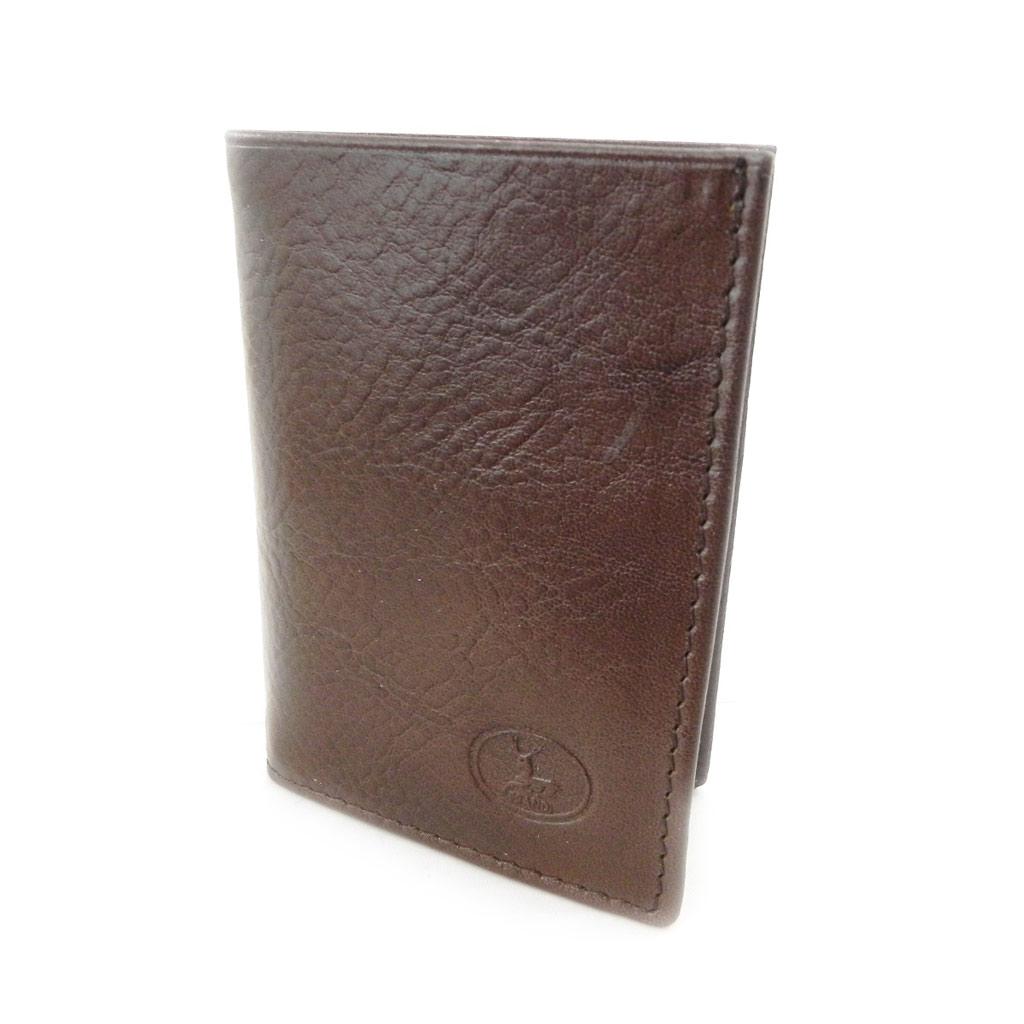 Porte-cartes Cuir \'Frandi\' marron (york écologique) - [I8399]