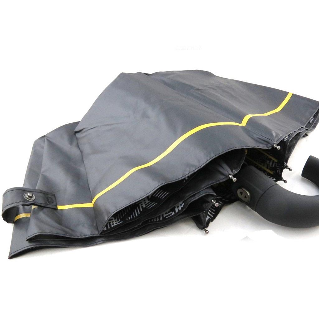 Parapluie automatique \'Daniel Hechter\' noir jaune (effet ciré) - [I8542]
