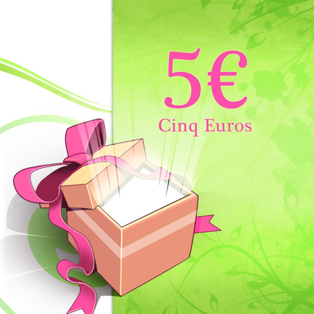Chèque Cadeaux 5 € - [Z9910]