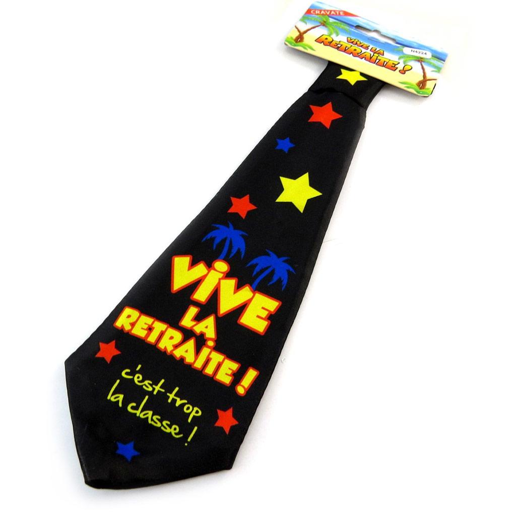Cravate anniversaire \'Vive la Retraite\'  - [N4224]