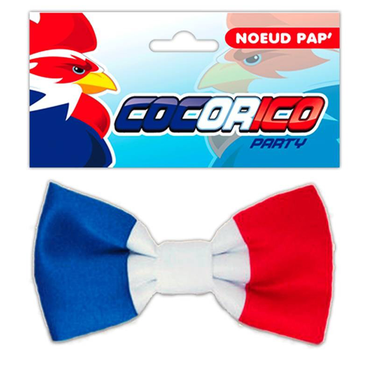 Noeud papillon \'France Cocorico\' tricolore - [N4226]