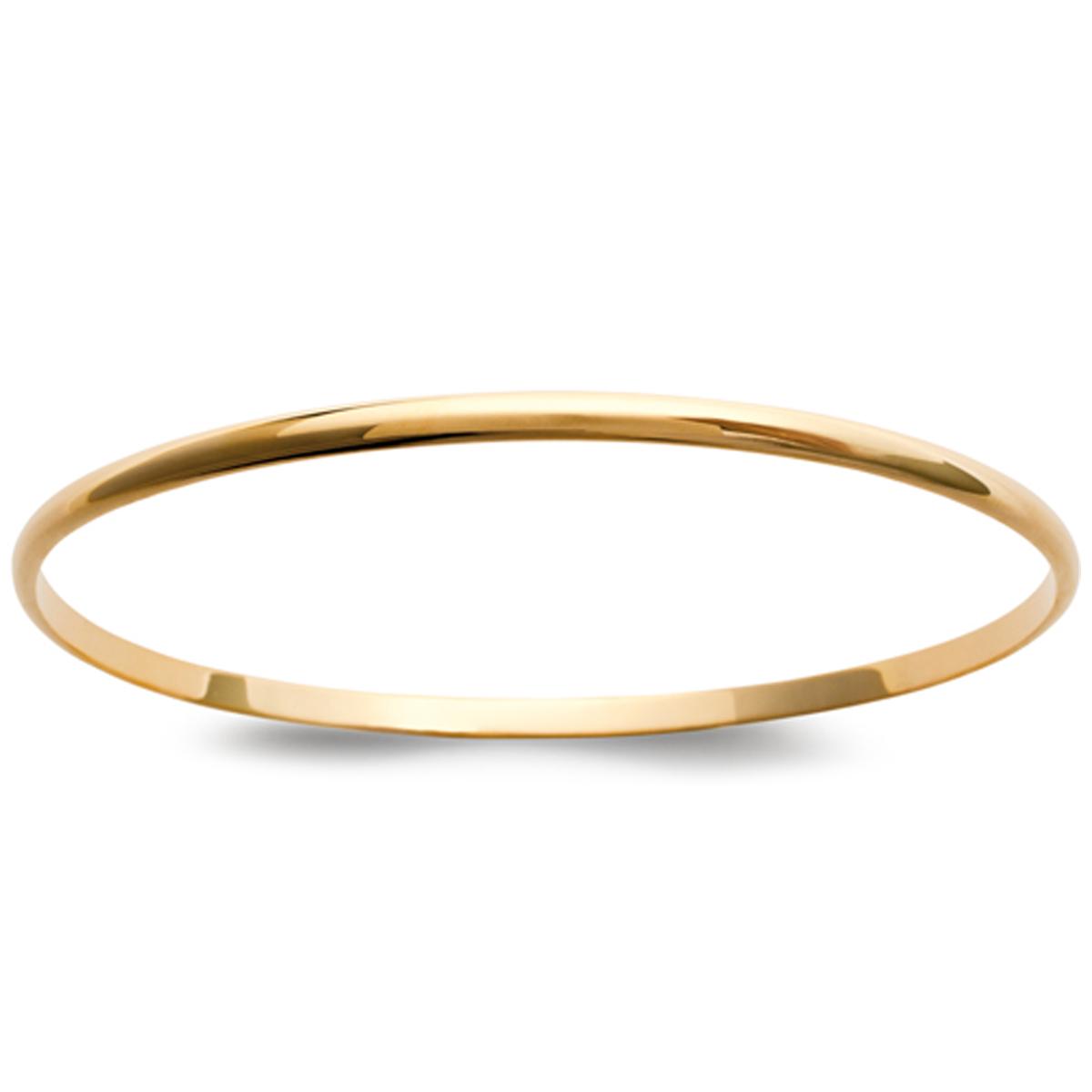 Bracelet Plaqué Or \'Demi-Jonc\' doré - 66 mm 3 mm - [C5730]